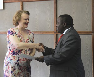 UN Resident Coordinator submitting credentials to the Minister of Foreign Affairs