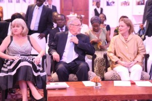 UN Day celebrations- Dr. Charlotte Scot, Acting President Dr. Guy Scot and UN Resident Coordinator Ms. Janet Rogan