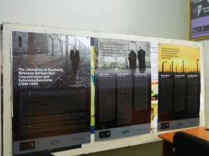 Holocaust Bio Panels on display at the UN Information Centre, Lusaka. Photo credit UNIC Lusaka.