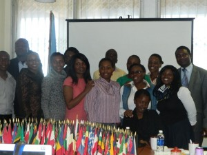 Part of the participants who took part in the mentorship program at UNIC Lusaka.