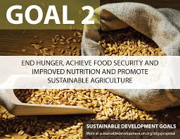 Goal 2 End hunger, achieve food security and improved nutrition and promote sustainable agriculture