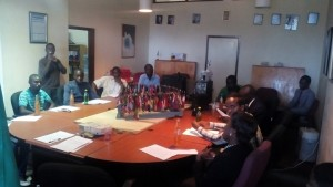 Some of the youth who took part in the youth discussion at UNIC Lusaka. Photo credit/UNIC Lusaka