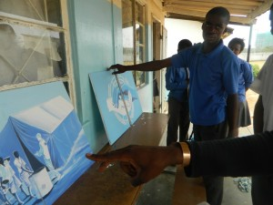Students from Northmead Secondary School preparing art works
