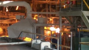 One of the anode making sections at Nchanga Mine in Chingola