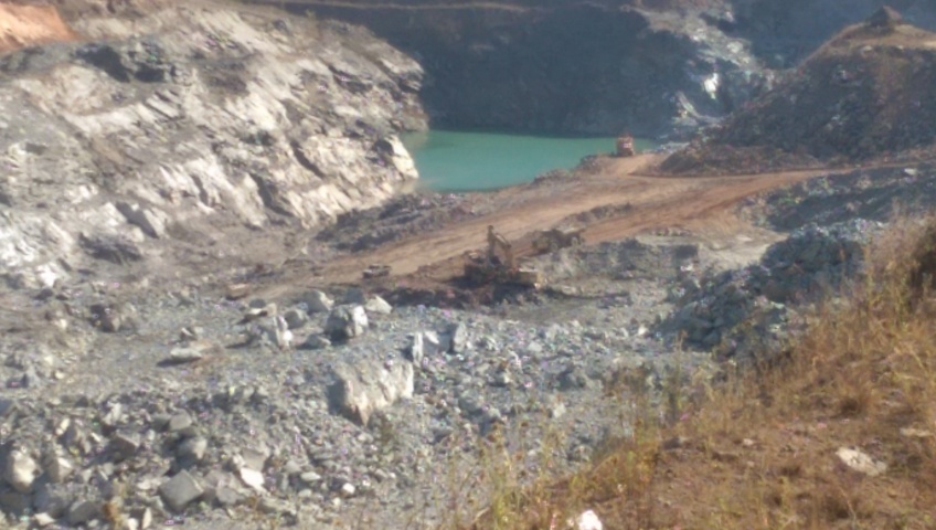 Snap shoot of the open pit mine at Gemcanton mine lufwanyama