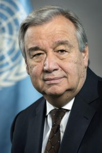 The UN Secretary-General  Mr. António Guterres