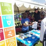 A UNYPP member participates in an SDG awareness creation activit in Lusaka. Photo: UNIC/Lusaka/2017/Maseko